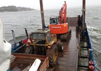 Lauttakuljetukset ja merirakentaminen